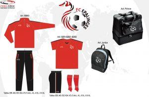 Kit d'entraînement du club de foot d'Epalinges
